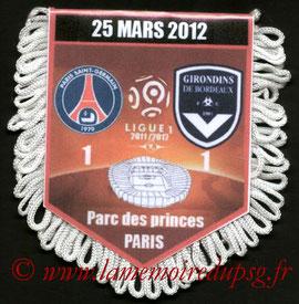 Fanion  PSG-Bordeaux  2011-12