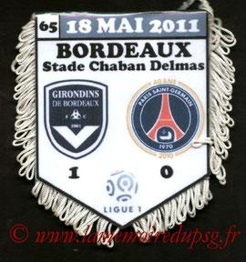 Fanion  Bordeaux-PSG  2010-11