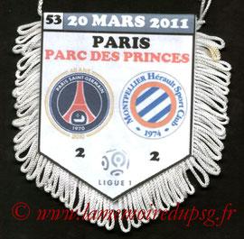 Fanion  PSG-Montpellier  2010-11