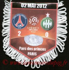 Fanion  PSG-Saint Etienne  2011-12