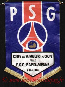 Fanion Officiel PSG-Rapid Vienne  1995-96