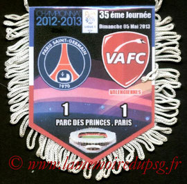 Fanion  PSG-Valenciennes  2012-13