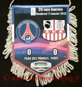 Fanion  PSG-Ajaccio  2012-13