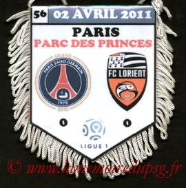 Fanion  PSG-Lorient  2010-11
