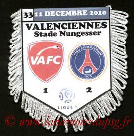 Fanion  Valenciennes-PSG  2010-11