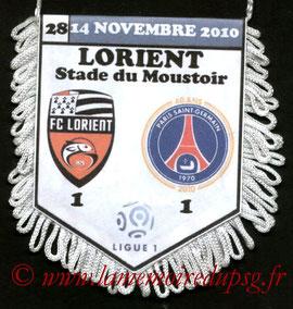 Fanion  Lorient-PSG  2010-11