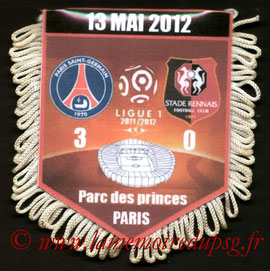 Fanion  PSG-Rennes  2011-12