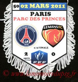 Fanion  PSG-Le Mans  2010-11