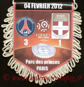 Fanion  PSG-Evian  2011-12