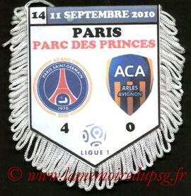Fanion  PSG-Arles Avignon  2010-11