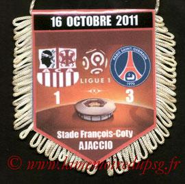 Fanion  Ajaccio-PSG  2011-12