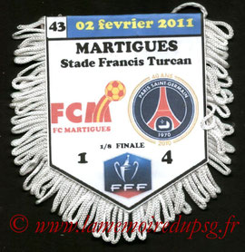Fanion  Martigues-PSG  2010-11