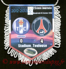 Fanion  Toulouse-PSG  2012-13