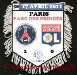 Fanion  PSG-Lyon  2010-11