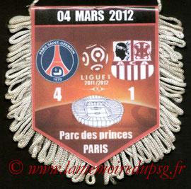 Fanion  PSG-Ajaccio  2011-12