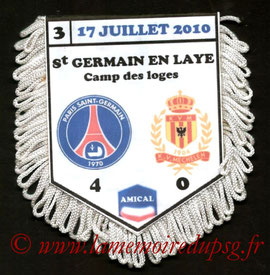Fanion  PSG-FC Malines  2010-11