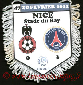 Fanion  Nice-PSG  2010-11