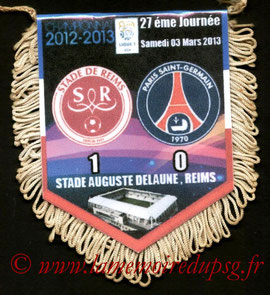 Fanion  Reims-PSG  2012-13