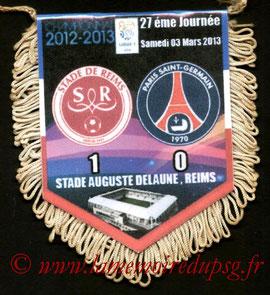 Fanion  Reims-PSG  2012-13