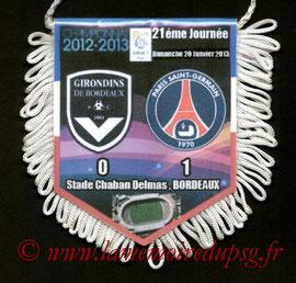 Fanion  Bordeaux-PSG  2012-13
