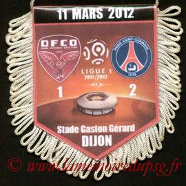 Fanion  Dijon-PSG  2011-12