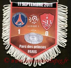 Fanion  PSG-Brest  2011-12