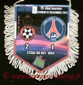 Fanion  Nice-PSG  2012-13