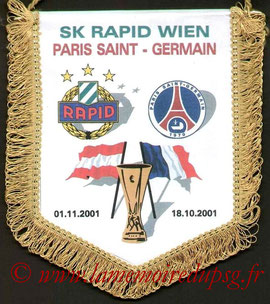 Fanion PSG-Rapid Vienne 2001-02