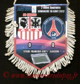Fanion  Ajaccio-PSG  2012-13