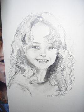 Kinderportrait Bleistift ab 200.-