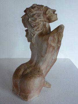 """""""Naïade""""... Sculpture Juan josé Ruiz dit """"Caco"""" ...grès blanc cuisson four à bois Noborigama de """"Caco et Sylvie"""""""