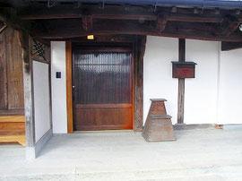 玄関 蔵戸(欅)