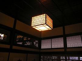 和室の照明・欄間・障子