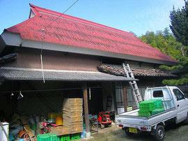 移築前 屋根は鉄板で覆われていた