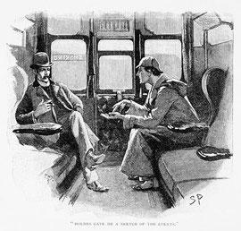 John Watson à gauche et Holmes à droite