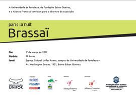 Invitation à l'ouverture de l'exposition à Fortaleza