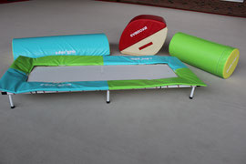 triple baby trampo , rocking gym , demi cylindre, cylindre 40 cm diam