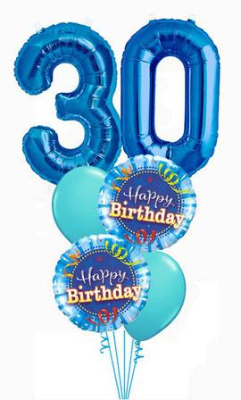 Ballon Luftballon Folienballon Zahl Latexballon Heliumballon Geschenk Happy Birthday Geburtstag 20 30 40 50 60 blau grün Mann Frau Party Überraschung Mitbringsel Deko Dekoration Geschenk