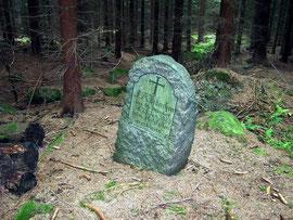 Gedenkstein am Weg vom Klunker zur Wildwiese