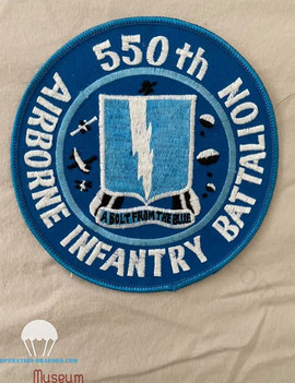 post war 550th glider infantry battalion patch belonged to Earl HADLEY