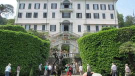 Am Freitag besuchten wir den Comersee, Foto zeigt die Villa Carlotta in Cardenabbia.