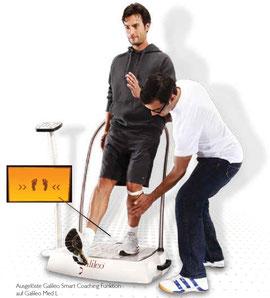 Vibrationsplatte Galileo, Smartcoaching, Smart Coach, Test, Meinungen, Vertrieb: www.kaiserpower.com