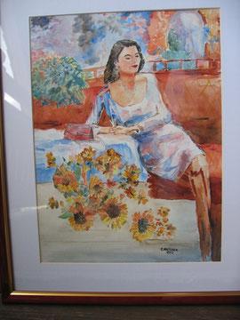 ...die Frau am Sofa - 1999