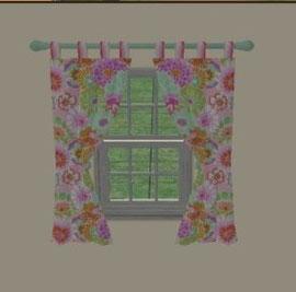 Rideau court fenêtre avec volets (Création de SimsDesignAvenue)