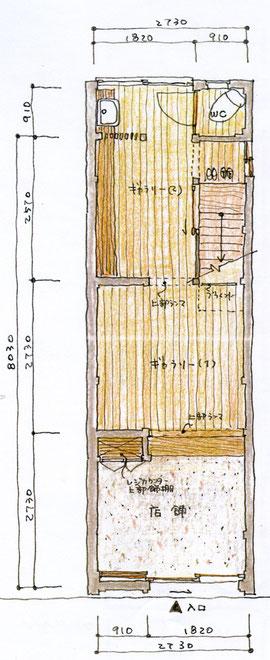 ギャラリー・ブレーメン1階見取り図