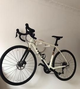 Wandhalter Wandmontage Halterung Fahrrad Rennrad Trek Holz wall mount weiß