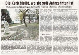 Wetterauer Zeitung vom 27. Jan. 2007