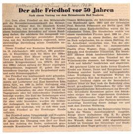 Wetterauer Zeitung vom 20. Nov. 1967