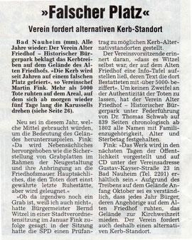 Wetterauer Zeitung vom 4. Oktober 2007