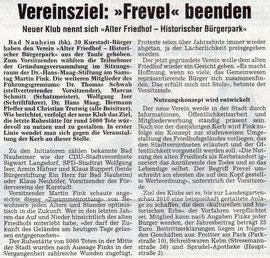 Wetterauer Zeitung vom 6. März 2007